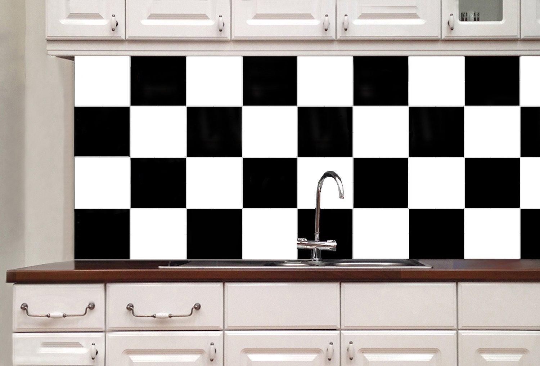 50pcs 6 x 6 Removable Stick On Kitchen Backsplash Wall Sticker Holoras Peel and Stick Tile Backsplash for Kitchen