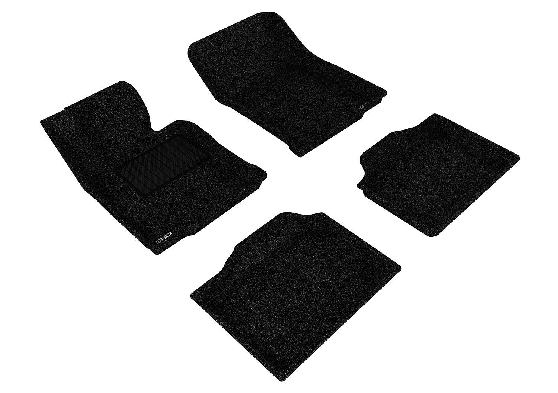 Classic Carpet Black L1MN00922209 3D MAXpider Second Row Custom Fit Floor Mat for Select Mini Countryman Models