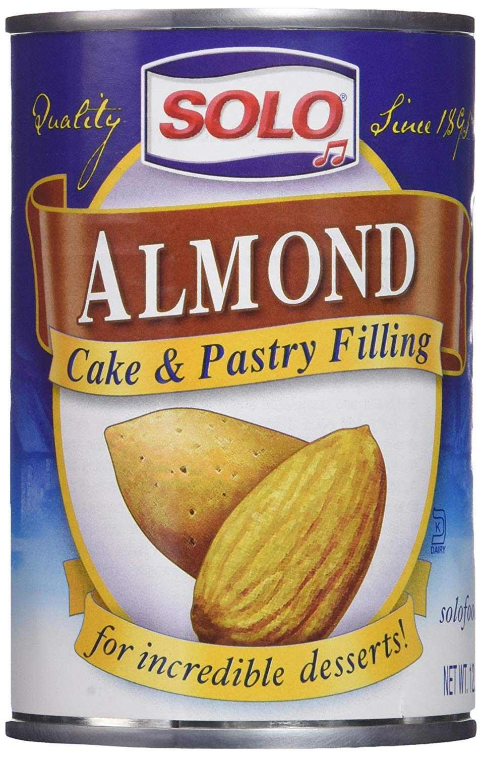 Solo Almond Cake and Pastry Filling 12.5oz, 2 Cans by Solo Foods
