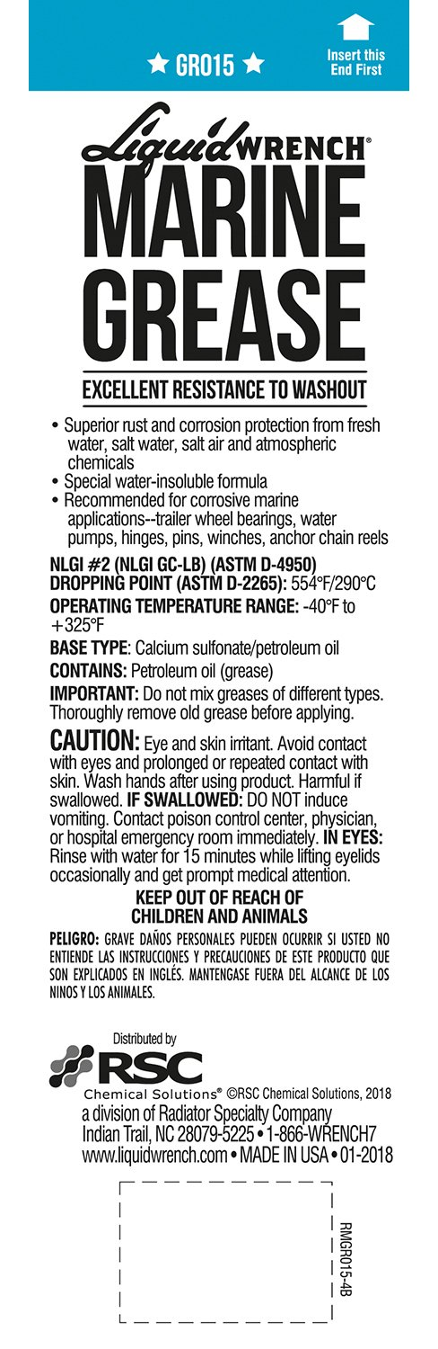 Liquid Wrench GR015-10PK Marine Grease - 15 oz., (Case of 10)