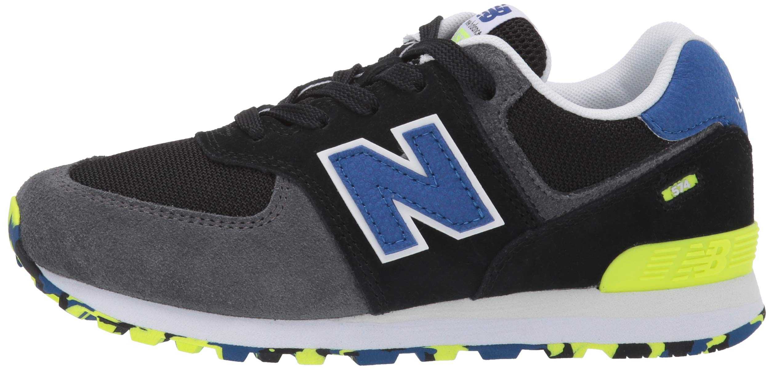 New Balance Boys' Iconic 574 Sneaker Black/Royal Blue 4.5 M US Big Kid by New Balance (Image #5)