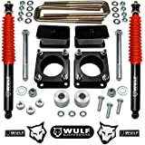 """WULF 3"""" Front 3"""" Rear Leveling Lift Kit w/Diff Drop and Rear Shocks for 2007-2020 Toyota Tundra 4WD"""