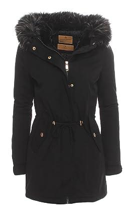 Jacke schwarz kunstfell
