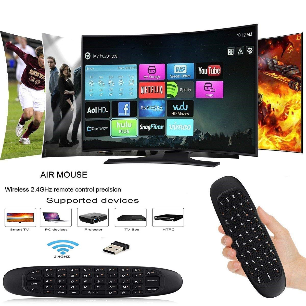Berry Collection Bluetooth Smart 2 4Ghz Keyboard For TV