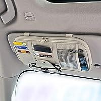 Da by Leather Car Sun Visor Organizer, Auto Interior Accessories Pocket Organizer - Car Truck Storage Pouch Holder, with…