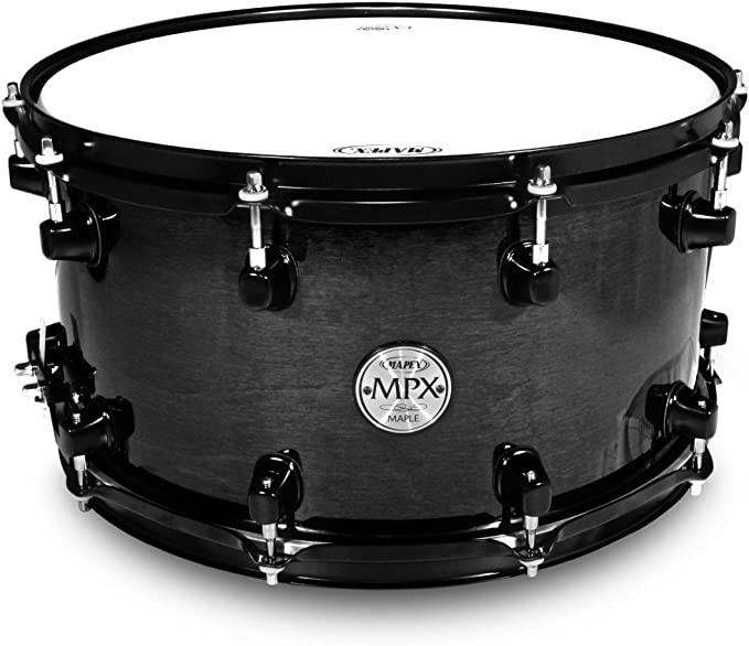 "NEW Mapex MPX Birch 14/"" x 5.5/"" Transparent Midnight Black Snare Drum MPBC4550BMB"