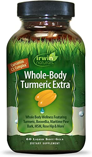Irwin Naturals Whole-Body Turmeric Extra – BioPerine Complex Enhanced Absorption – 60 Liquid Softgels