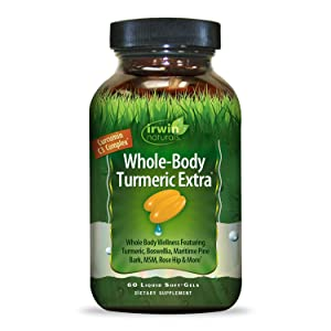 Irwin Naturals Whole-Body Turmeric Extra - BioPerine Complex Enhanced Absorption - 60 Liquid Softgels