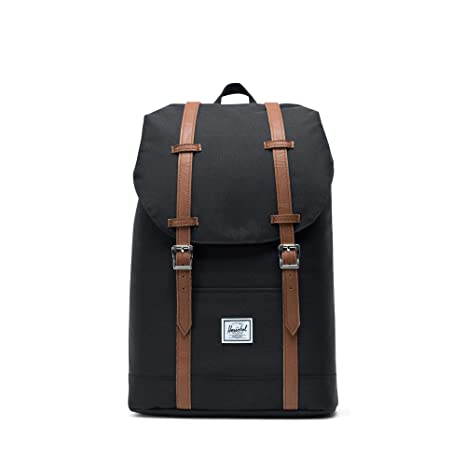 082b17c3d954 Herschel Supply Co. Retreat Mid-Volume Backpack, Black/Tan Synthetic  Leather: Amazon.co.uk: Luggage
