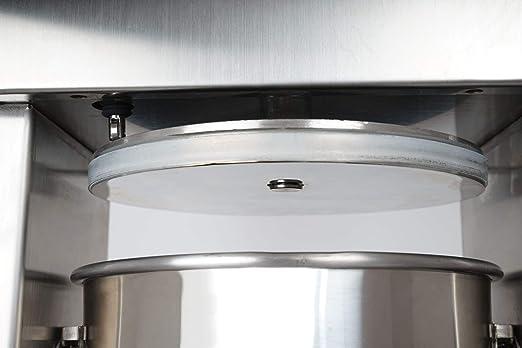 Zelsius - Embutidora Profesional eléctrica de Salchichas I Acero Inoxidable I Cuatro Tubos de llenado Diferentes I Salchichas de Diferentes tamaños I Prensa I con válvula de ventilación I 10 litros: Amazon.es