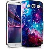 kwmobile Hülle für Samsung Galaxy S3 i9300 / S3 Neo i9301 - Backcover Case Handy Schutzhülle Kunststoff - Hardcase Cover Space Design Mehrfarbig Pink Schwarz