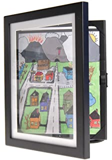 child artwork frame display cabinet frames and stores your childs masterpieces 85 x - Easy Change Artwork Frames