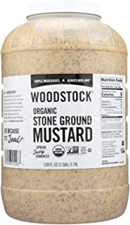 product image for Woodstock Farms Organic Stoneground Mustard, 128 Ounce