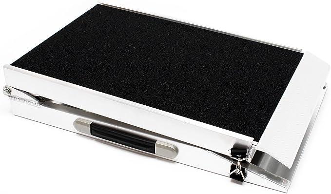 WilTec Rampe dacc/ès pour Chien Rampe pour Animaux 1x Pliable Alu Surface antid/érapante 183 x 48cm 110 kg