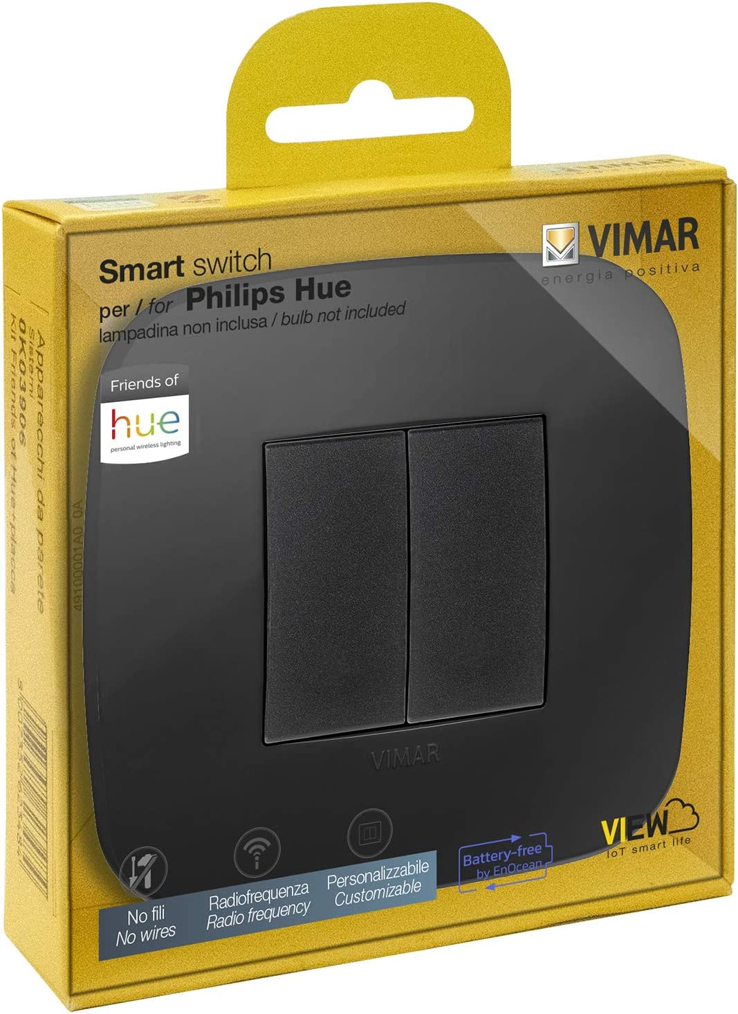 VIMAR 0K03906.08 Arké Roud Kit Interrupteur sans Fil en radiofréquence Philips Friends...