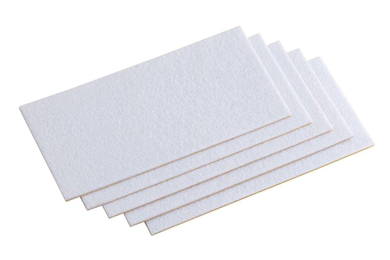 Meister 645346 Patine para desplazar muebles blanco Set de 5 Piezas 100 x 100 mm