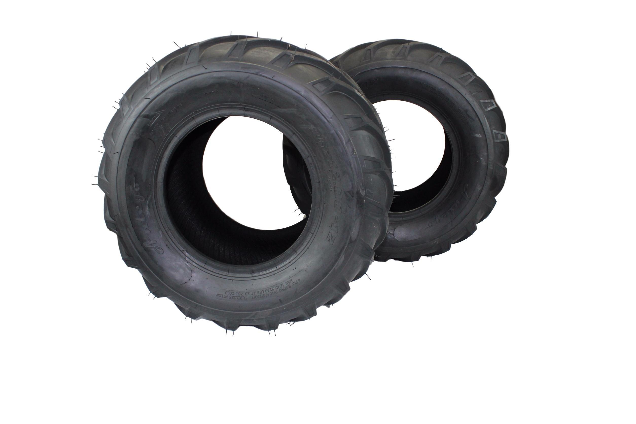 (Set of 2) 26x12.00-12 ATV/UTV, Lawn & Garden, Lawn Tractor, Mower Tires 4 Ply ATW-041