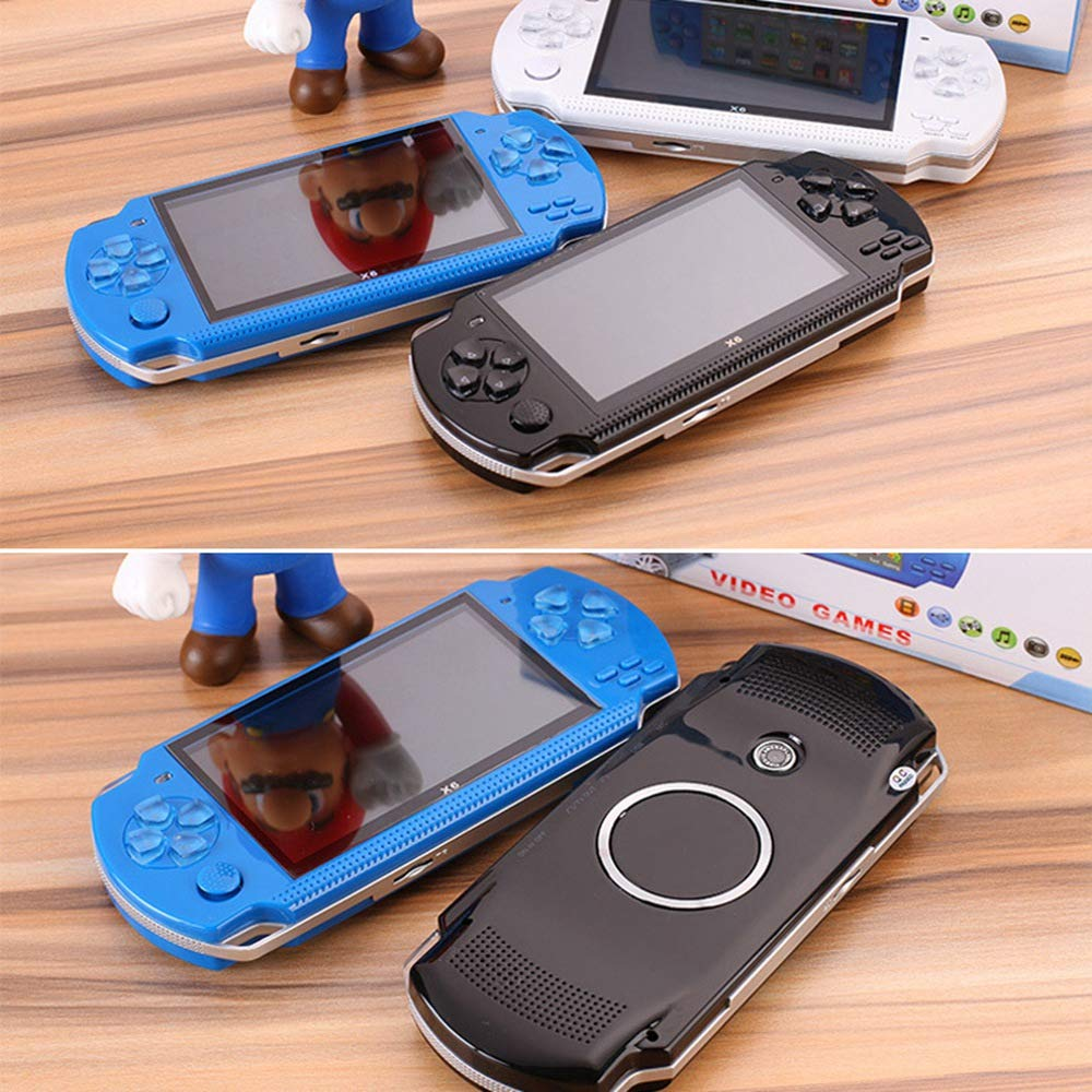 Womdee Handheld Game Console with Built in Games,Portable Video Games for Kids Retro,Built-in 500 Classic Video Games Player with 4.3'' 8GB System for Birthday Presents Kids Children Adults (Blue) by Womdee (Image #5)