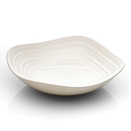 Amazon.com | Mikasa Swirl White Square Small Fruit Bowl, 6.5-Inch ...