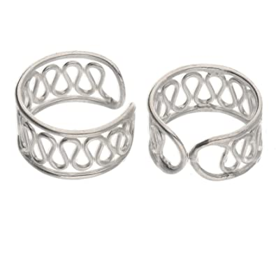 c8d3916b5 Amazon.com: Sterling Silver Coiled Wirework Ear Cuff Pair Earrings: Jewelry