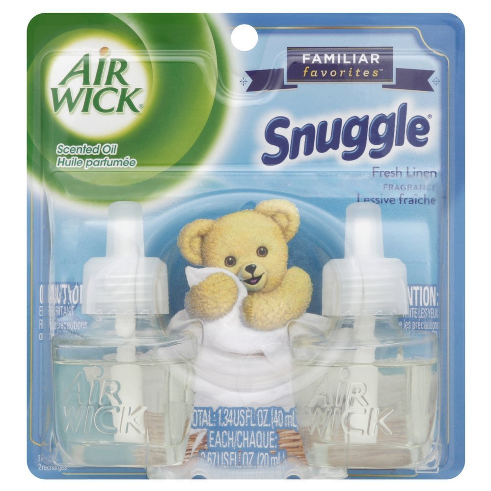 Air Wick Scented Oil Twin Refill Snuggle Fresh Linen (2X.67) Oz. (Pack of 2)