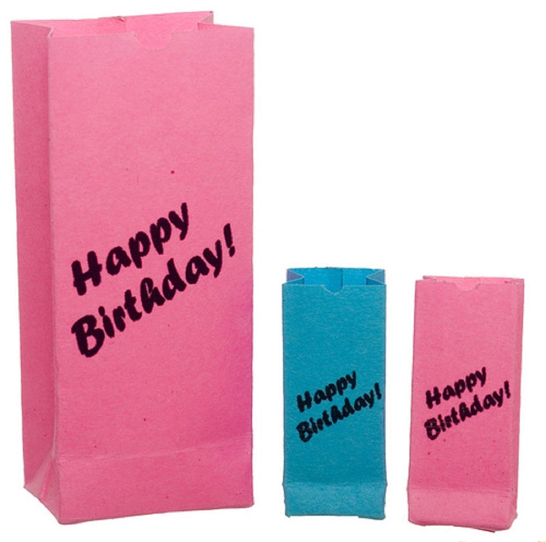 Dollhouse Miniature 1:12 Scale Birthday Gift Bags #Tin1051 AZTEC IMPORTS