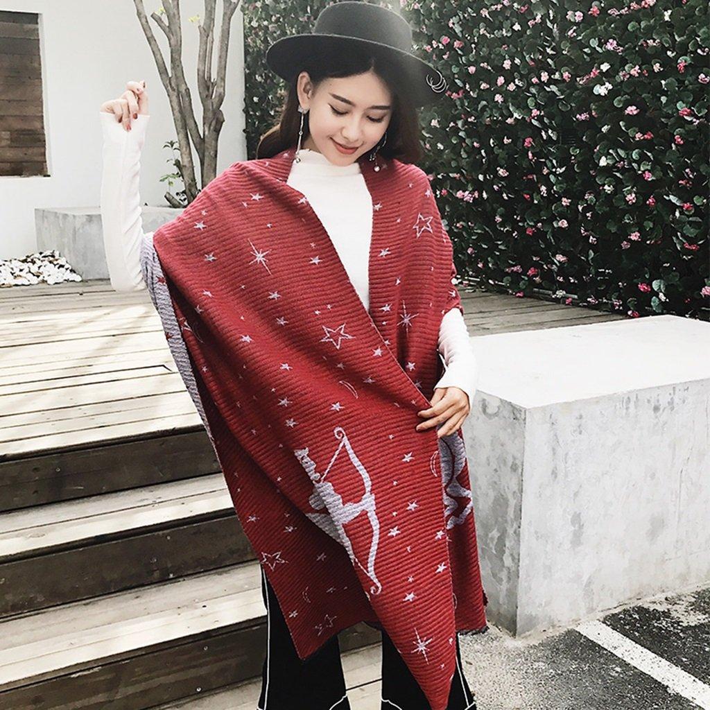 Bufandas invierno moda Cachemira damas lujo rayas super suave invierno borlas chales sección larga cómodo cálido grande de punto retro multicolor ( Color : 2# )
