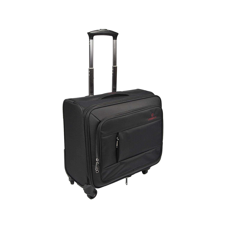 Ejecutivo Negocio Bolsa/Maletín Con Ruedas/carrito de portátil ampliable equipaje/4 rueda Rolling Tote con asa retráctil sistema Negro Red: Amazon.es: ...