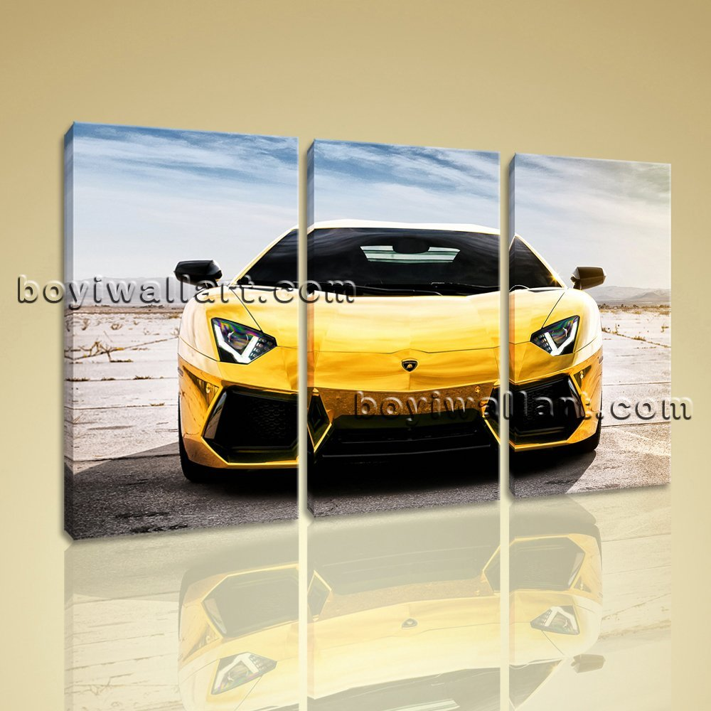 Amazon.com: Large Lamborghini Aventador Car Wall Decor Home Bedroom ...