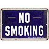 Blue NO SMOKING Vintage Look Reproduction Metal Sign 8 x 12 8120339