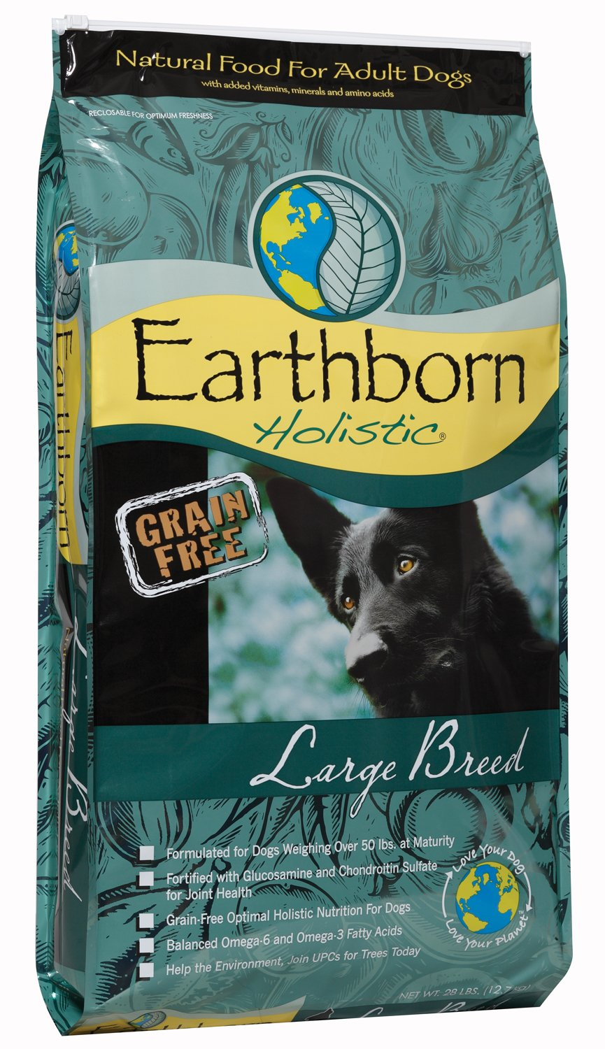 Wells Pet Food Earthborn Holistic Natural Food for Large Breed Dogs, 28-Pound Bag
