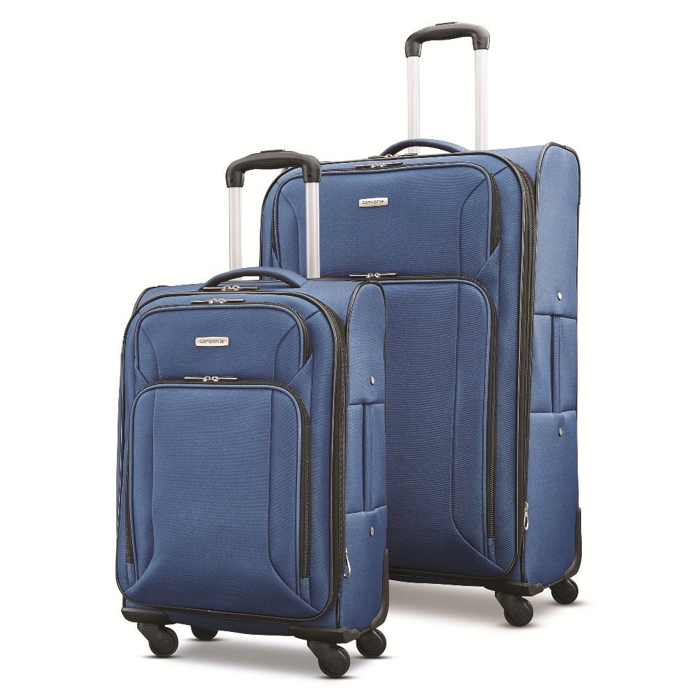 Samsonite Victory 2 Piece Nested Softside Set (21''/29''), Navy Blue, Only at Amazon