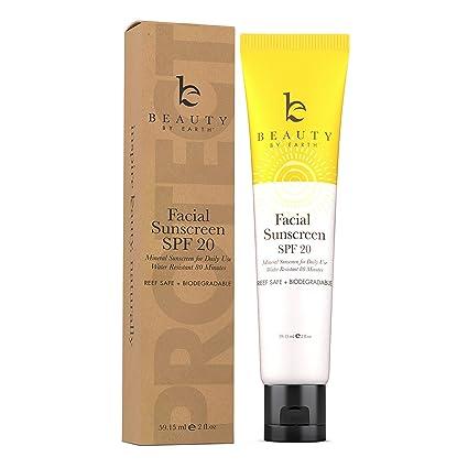56300647bef Protector Solar Facial SPF 20-La Mejor Crema Protectora Mineral de Uso  Diario; Resistente