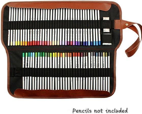 Lápices Colores Organizador lápices Colores lápiz Funda con Tapa Multi-Usos Bolsa Almacenaje para la Oficina Art School Estuche Colores Estuches Escolares 72 Ranura (Sin lápices): Amazon.es: Oficina y papelería