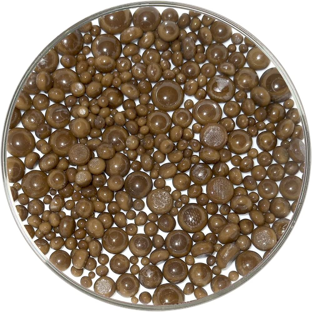 Chocolate Opalescent Frit Balls 1oz 96COE Made from System 96 Glass
