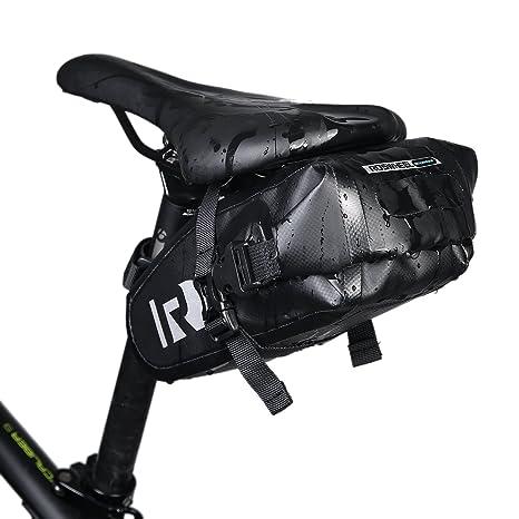 Bolsa para sillín de bicicleta, XPhonew impermeable bolsa de bicicleta sillín de bicicleta alforja paquete bolsa de almacenamiento funda de sillín de ...