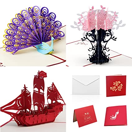 Amazon 3d Happy Birthday Cards Assortment Handmade Pop Up