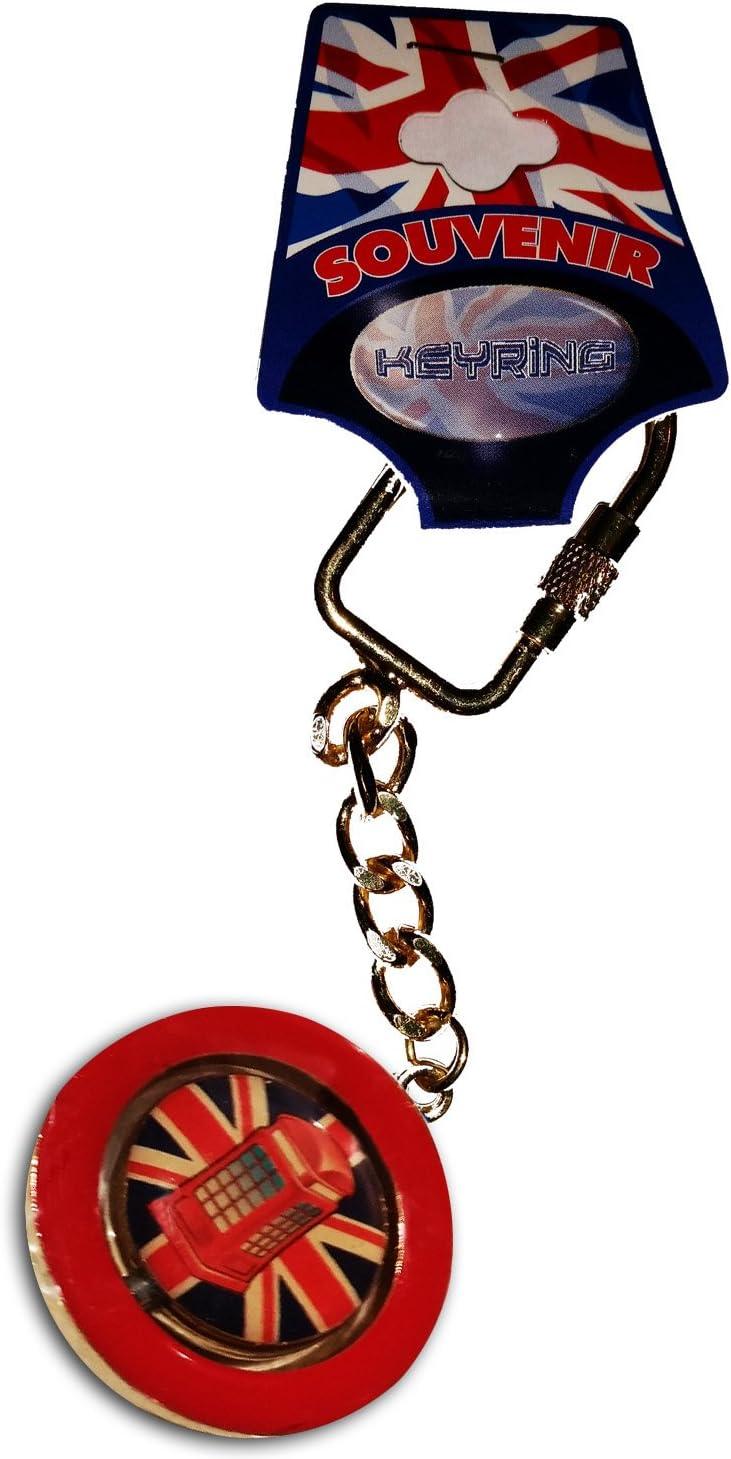 British Iconic Red Telephone Box UK Keyring Charm Bag Purse