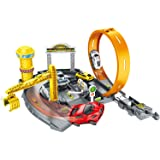 Assembling Rail Cars, SIMREX Parking Garage Playset Assembling Racing Tracks Toys Models Vehicle Playsets for Kids