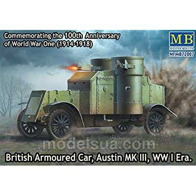Master Box Models 1/72 British Armoured Car Austin Mk.III WWI Era Vehicle Kit: Toys & Games