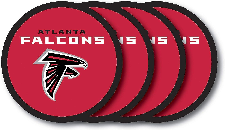 NFL Atlanta Falcons Vinyl Coaster Set (Pack of 4)