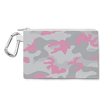 Camuflaje rosa pastel lona bolsa con cremallera - multiusos ...