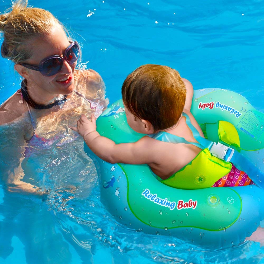 aPerfectLife Inflatable Baby Swimming Float Ring Spring Floats Swim Trainer Newborn Baby Kid Toddler Summer Outdoor Beach Water Bath Toy Swimming Pool Accessories Suitable for The Age of 6-36 Months by aPerfectLife (Image #7)