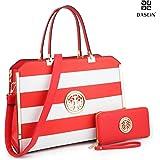 Dasein Women Large Laptop Bag Briefcase Structured Designer Satchel Handbag Work Bag Shoulder Bag