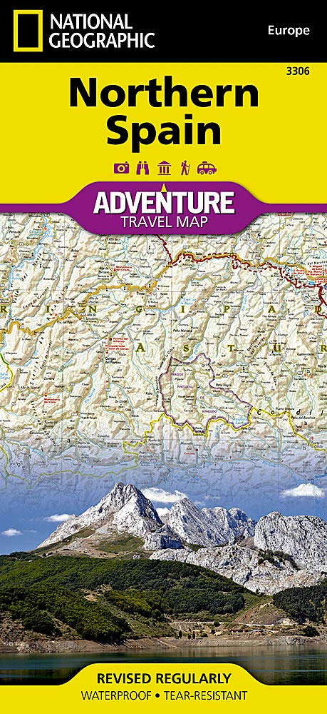 Travel Map Of Spain.Northern Spain National Geographic Adventure Map National
