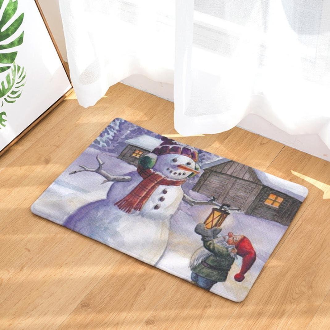 la cocina el ba/ño Alfombras antideslizantes con motivo de Navidad alfombrillas decorativas para el pasillo OHQ el sal/ón