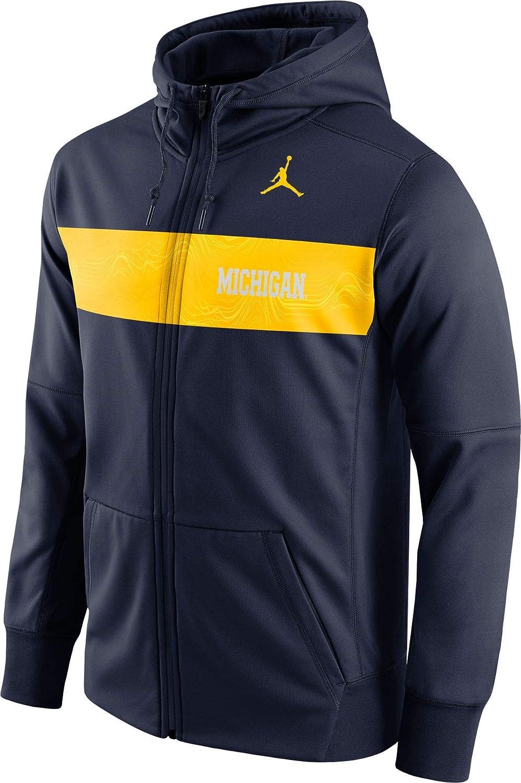 Michigan Jordan Gear >> Amazon Com Jordan Men S Michigan Wolverines Blue Therma Fit