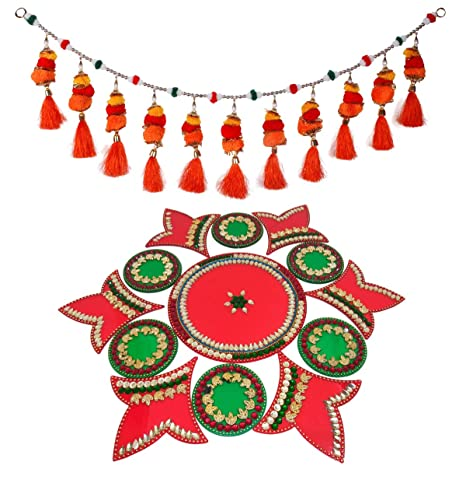 658ecd50978 Buy Saugat Traders Diwali Decoration Items - Decorative Door Hanging Toran    Decorative Acrylic Rangoli Online at Low Prices in India - Amazon.in