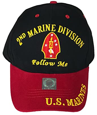 U.S. Marine Corps USMC 2ND Marine Division Follow Me Direct Embroidered Hat  - Color 395daaa55cc2