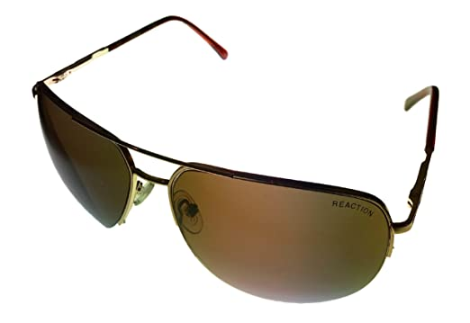 22aca1d80c Image Unavailable. Image not available for. Color  Kenneth Cole Reaction  Men s Aviator Gold Metal Sunglasses ...